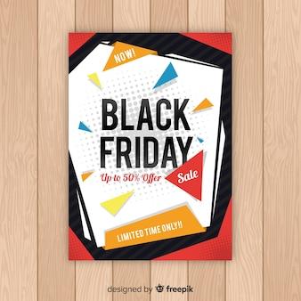 Modello di volantino di vendita venerdì nero astratta