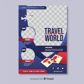 Modello di volantino di viaggio