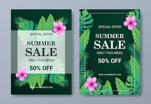 Modello di volantino estate vendita
