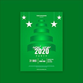 Modello di volantino festa del nuovo anno 2020