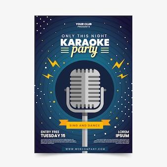 Modello di volantino festa karaoke