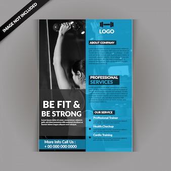 Modello di volantino fitness gym