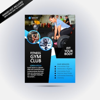 Modello di volantino fitness