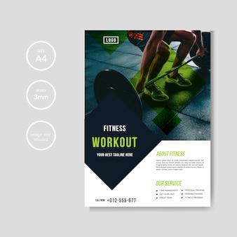 Modello di volantino gym e fitness