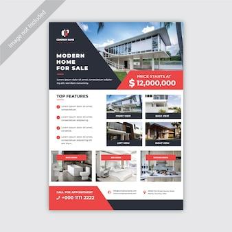 Modello di volantino immobiliare moderno