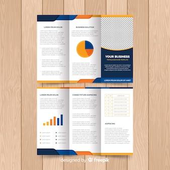 Modello di volantino moderno con elementi infographic
