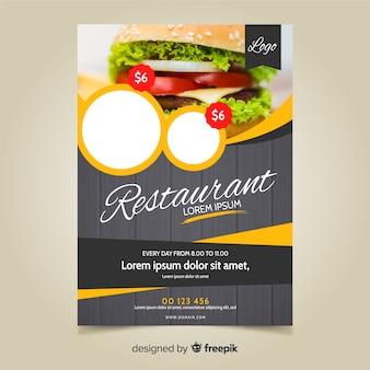Modello di volantino moderno ristorante fast food