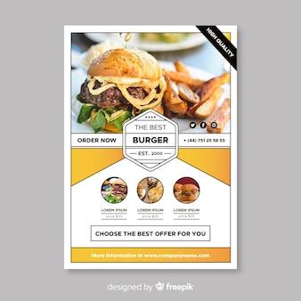 Modello di volantino moderno ristorante hamburger