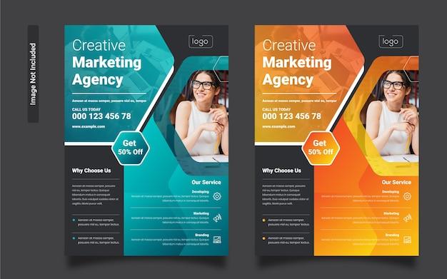 Modello di volantino per agenzia di marketing
