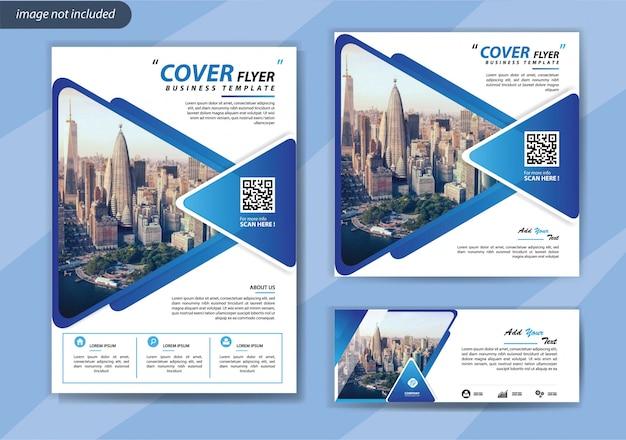 Modello di volantino per la promozione di brochure aziendali e social media