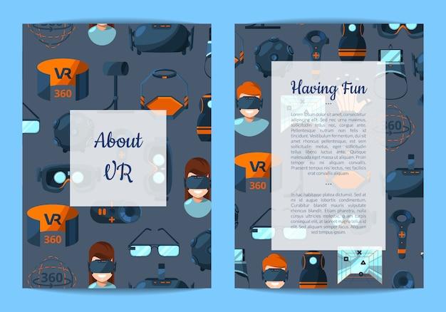 Modello di volantino per negozio di gadget di realtà virtuale