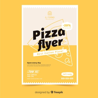 Modello di volantino pizza