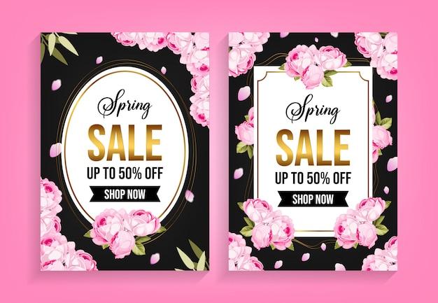 Modello di volantino primavera vendita