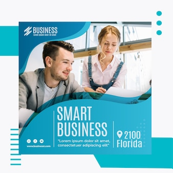 Modello di volantino quadrato smart business