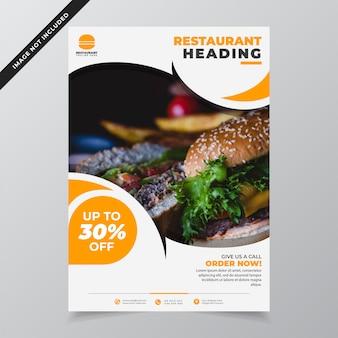 Modello di volantino ristorante moderno minimalista