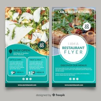 Modello di volantino ristorante moderno