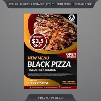 Modello di volantino ristorante pizza