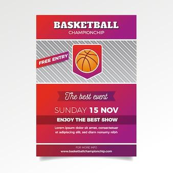 Modello di volantino sport basket