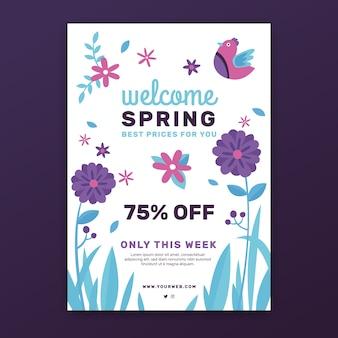 Modello di volantino vendita primavera piatta