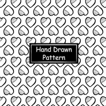 Modello disegnato a mano in bianco e nero