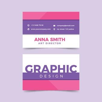 Modello divertente per biglietto da visita graphic designer