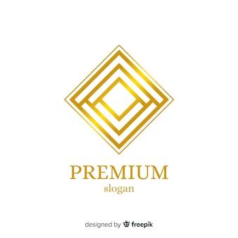 Modello dorato elegante logo aziendale