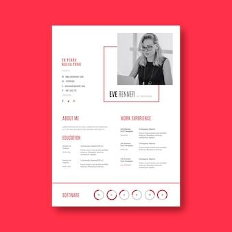 Modello e avatar minimalista di cv di affari