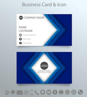 Modello e icona di biglietto da visita creativo moderno.