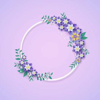 Modello e struttura del fiore nel concetto del taglio della carta.