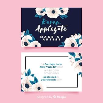 Modello elegante biglietto da visita floreale