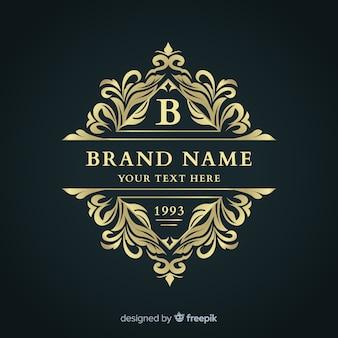 Modello elegante logo ornamentale