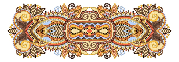 Modello etnico floreale paisley indiano