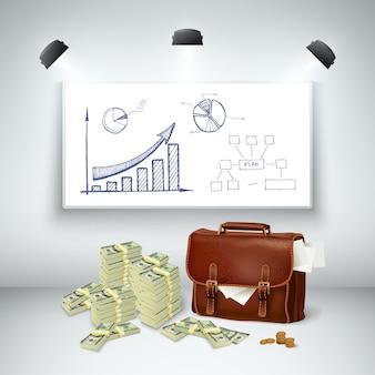 Modello finanziario di affari realistici