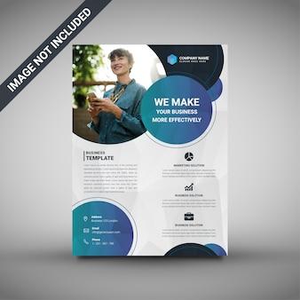 Modello flyer aziendale low poly sfondo creativo