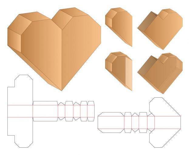Modello fustellato confezione imballo