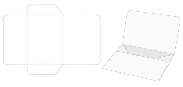 Modello fustellato contenitore documenti piatto