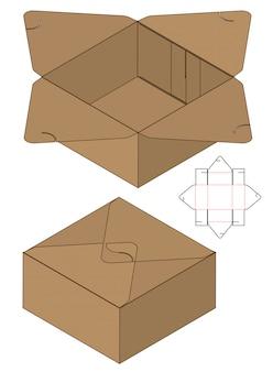 Modello fustellato di imballaggio della scatola per la stampa