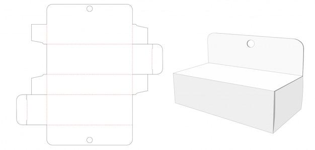 Modello fustellato per imballaggio con foro per appendere ondulato