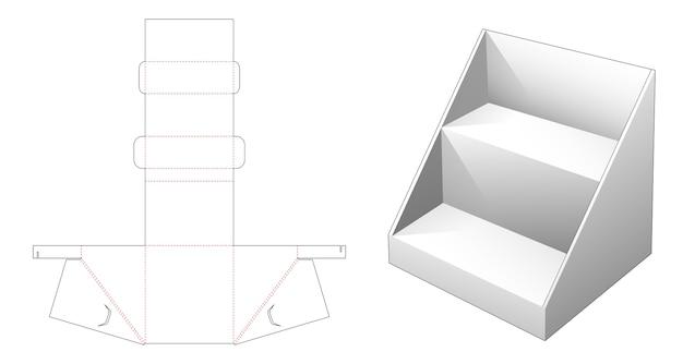 Modello fustellato per scaffale di esposizione del prodotto ondulato