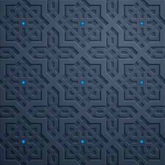 Modello geometrico arabo del marocco dell'ornamento traditonal