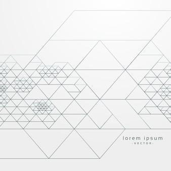 Modello geometrico astratto con sfondo di linee di attraversamento
