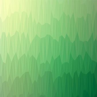 Modello geometrico degli alberi forestali verdi astratti