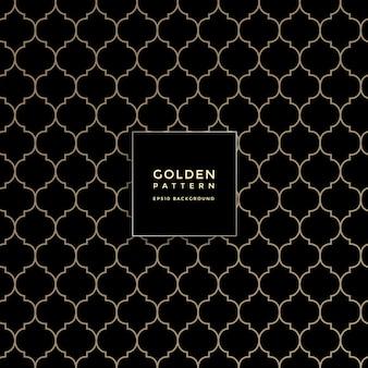 Modello geometrico dorato di lusso, fondo astratto del modello
