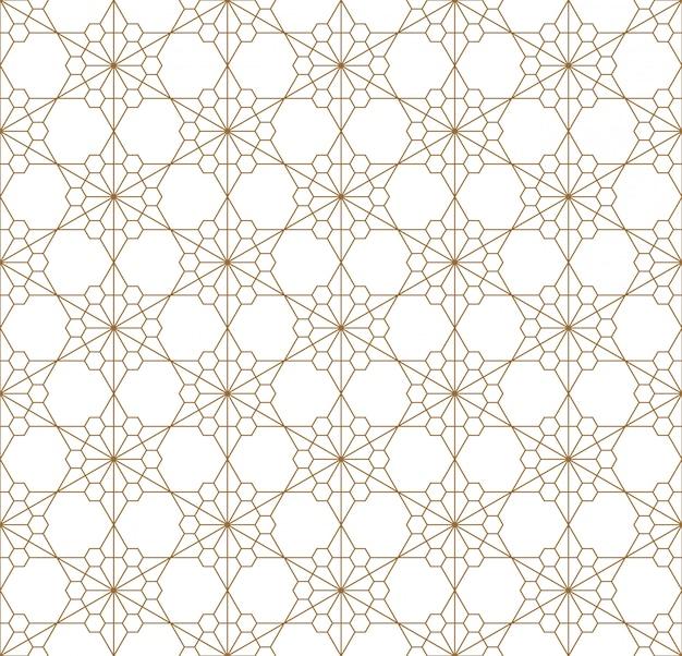 Modello geometrico senza cuciture basato sul kumiko giapponese dell'ornamento.