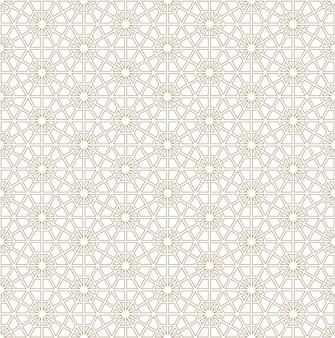 Modello geometrico senza cuciture basato sull'ornamento giapponese kumiko.