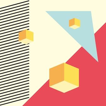 Modello geometrico senza cuciture in stile astratto moderno