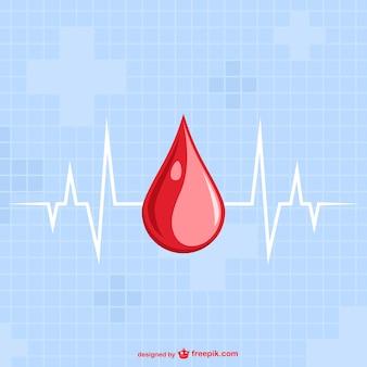 Modello goccia di sangue vettore
