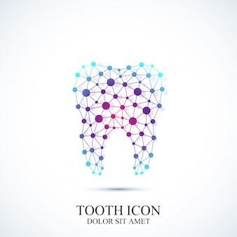Modello icona dente. disegno medico