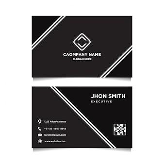 Modello in bianco e nero semplice dei biglietti da visita
