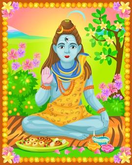 Modello indiano luminoso colorato